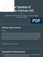 the population of african americans  aa