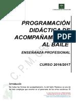 Programacion Acompanamiento Al Baile 2016-17