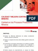 1. Calidad en Los Procesos Productivos Mineros