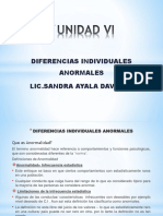 UNIDAD 6 - Diferencias Individuales Anormales 2015