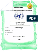 Monografia Precursores de La Criminologia