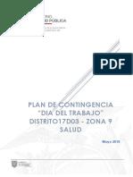 Plan Contingencia 1 de Mayo Distrito 17d03