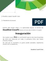 Cartas CrossFit
