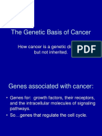 the genetic basis of cancer
