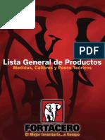 Fortacero Catalogo 2018