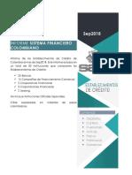 Informe Establecimientos de  Crédito Colombia Sep18