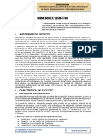 Modelo de Memoria Descriptiva - E.T SANEAMIENTO BASICO
