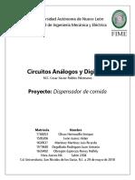 [Reporte]Proyecto DispensadorAlimento Mascotas