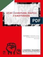 Anais GT 09 Juventudes, Política e Subjetividades
