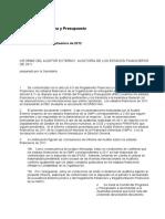 Informe Del Auditor Externo Auditoría de Los Estados Financieros de 2011