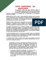 Concepto Universal de Auditoria