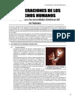 Generacion de los derechos humanos