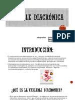 Variable Diacrónica