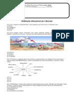 Avaliação Bimestral de Ciências 6º - CERD 3º Bim 2018