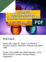 Titrasi Pengendapan (presipitatometri)
