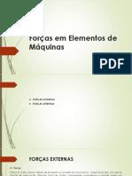 4 Forças Em Elementos de Máquinas (Esforços Externos e Internos)