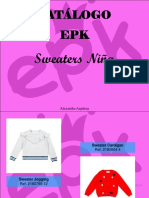 Alexandra Azpúrua - Catálogo EPK, Sweaters niña