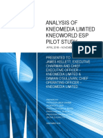 Analysis of Kneomedia Limited KneoWorld ESP Pilot Study