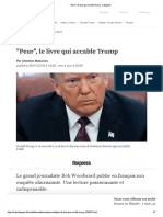 """""""Peur"""", Le Livre Qui Accable Trump"""