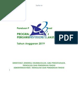 Panduan Penyusunan Proposal Pp Pts 2019 1 Pdf