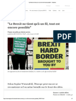 Le Brexit ne tient qu'à un fil, tout est encore possible