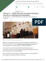 Unesco- les savoir-faire liés au parfum