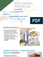 Diseño de Mezcla Metodo ACI