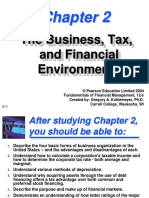Ch02 the Business, Tax, And Financial Environments