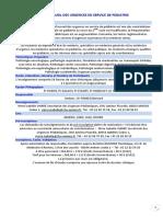Accueil Des Urgences en Service de Pediatrie