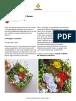 Paper Quilling Succulent Garden