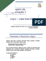 Exercicios - Lógica