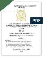 Proyecto de Investigacion Paneles Solares en Puno para contrarrestar el friaje