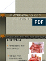 B Hemorragia Dolor Alergia