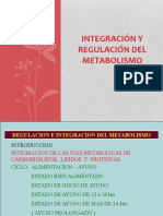 Integración y Regulación Del Metabolismo