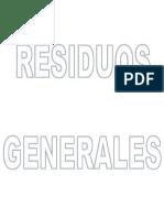 residuos generales