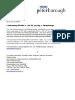 Nov. 28, 2018 City of Peterborough credit rating report