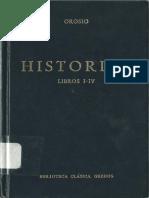 Orosio - Historias (Libros I-IV)