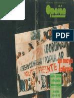 OPCION Revista de cultura politica No 1 Año 1988 Un mayo caliente