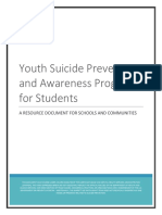 youth resources for suicide prevention final