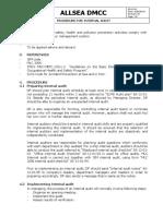 Procedure for Internal Audit