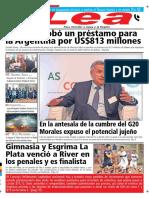 Periódico Lea Jueves 29 de Noviembre Del 2018