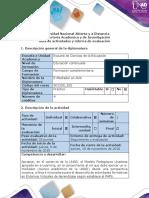 Guía de Actividades y Rúbrica de Evaluación - Fase 1 - Realizar La Actividad Aprendizajes Previos