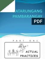 Final Katarungang Pambarangay Law