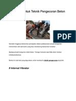 Peralatan Untuk Teknik Pengecoran Beton yang Baik.docx