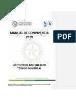 Propuesta Manual de Convivencia 2019 Algunas Observaciones a Tener en Cuenta