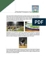 2018 Baseball Champions Cup