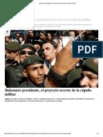 Bolsonaro Presidente, El Proyecto Secreto de La Cúpula Militar