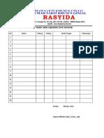 Daftar Hadir Stok Opname Unit Farmasi