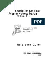 8333-VW_62TE Transmission Simulator Manual