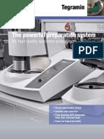 Get High Quality Specimen Preparation by Powerful System Struers's Tegramin